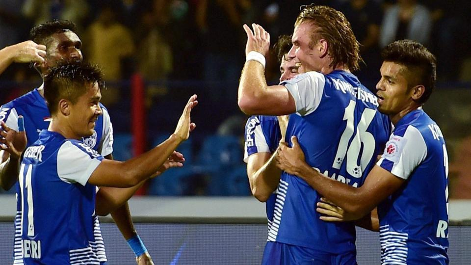 Bengaluru FC face Chennaiyin FC in an Indian Super League match on Tuesday.