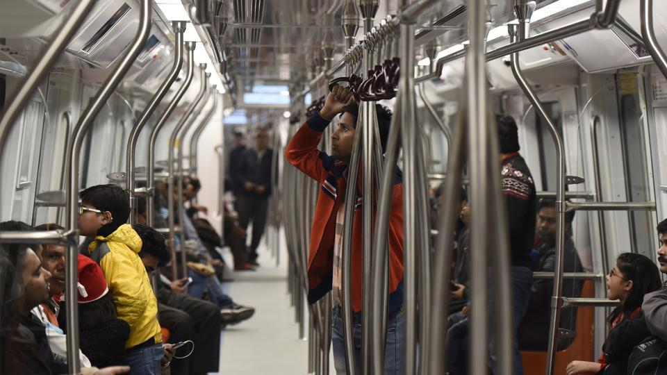 Carrying arms and ammunition in the Delhi Metro is banned under the law.
