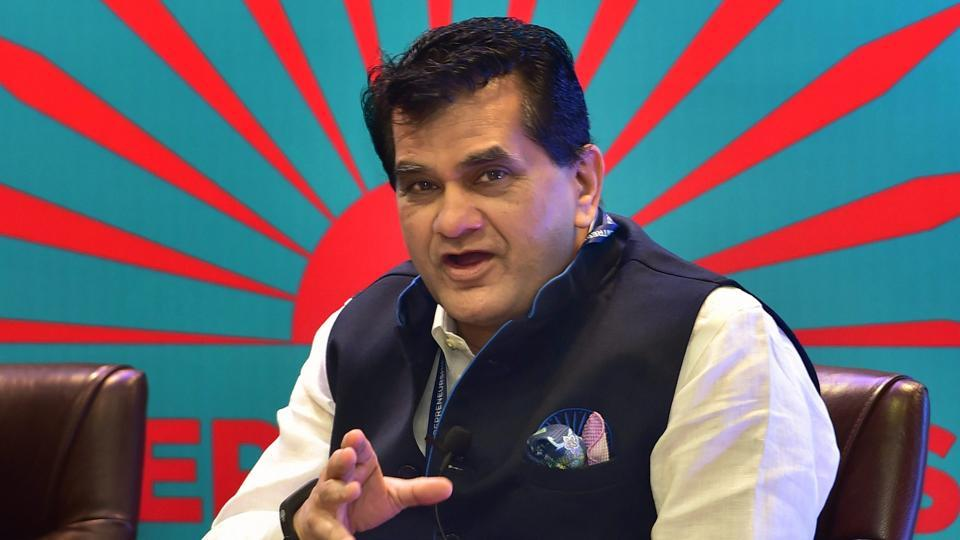 Niti Aayog CEO Amitabh Kant speaks at a panel discussion at the Global Entrepreneurship Summit 2017 in Hyderabad. Kant is a 1980 batch IAS officer of Kerala cadre.