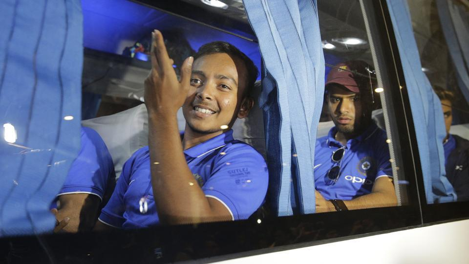The Indian U-19 Cricket World Cup team returned to Mumbai after winning the title. (AP)