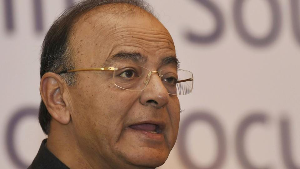 Finance Minister Arun Jaitley at a conference in New Delhi on February 5, 2018.