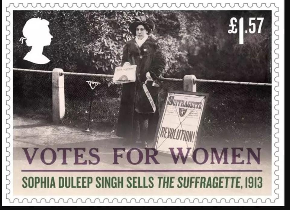 Sophia Duleep Singh,Representation of the People Act,Royal Mail stamp