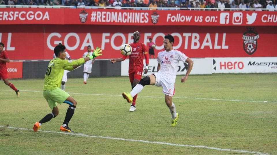 Churchill Brothers beat reigning champions Aizawl FCin an I-League clash on Tuesday.
