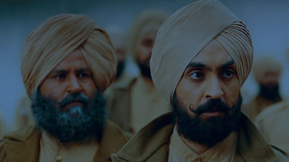 Diljit Dosanjh in a still from the Sajjan Singh Rangroot trailer.