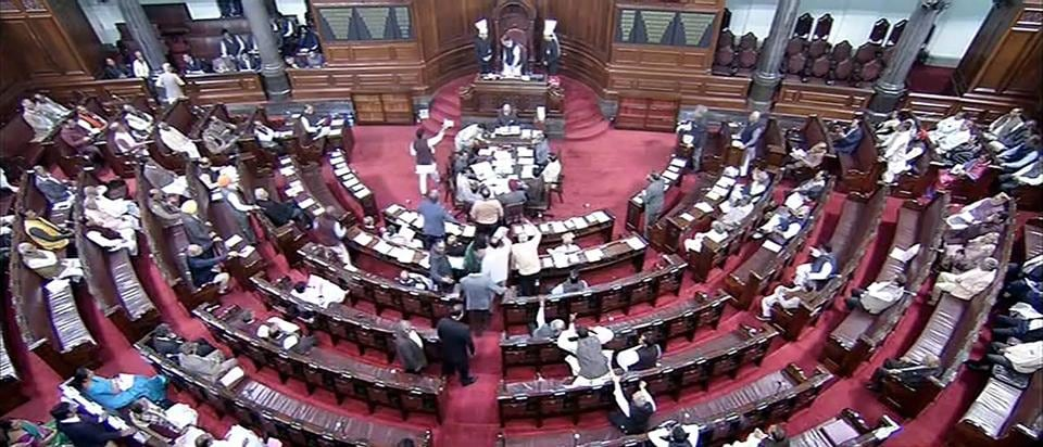 A view of the Rajya Sabha in New Delhi on Tuesday.