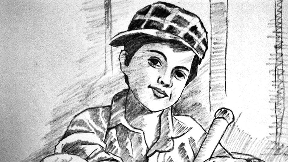 A sketch done by constable Sunita Negi.