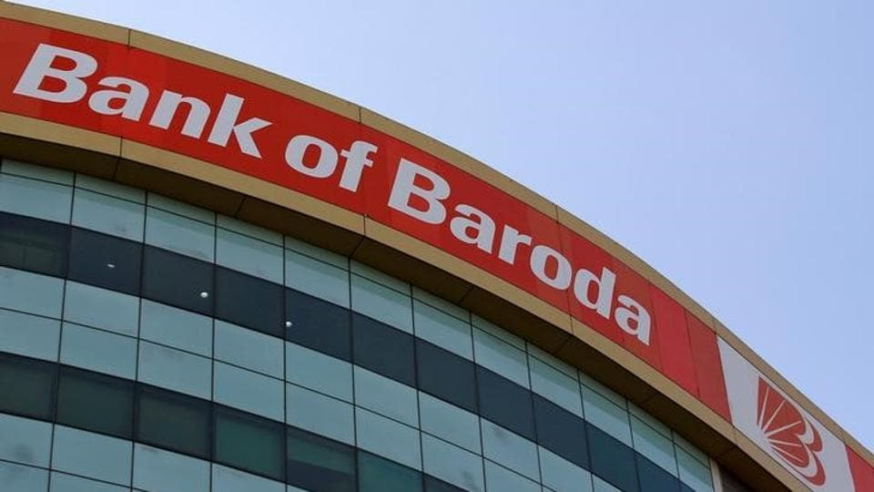 The Bank of Baroda headquarters is pictured in Mumbai.
