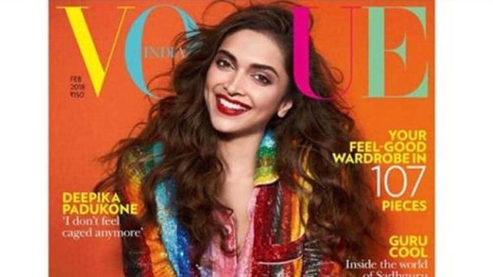 Actor Deepika Padukone on Vogue India's February issue.