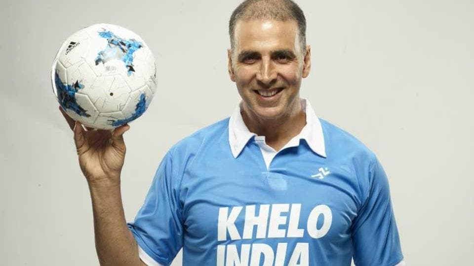 Akshay Kumar extended his support for Khelo India School Games and urged youngsters to come forward and play.