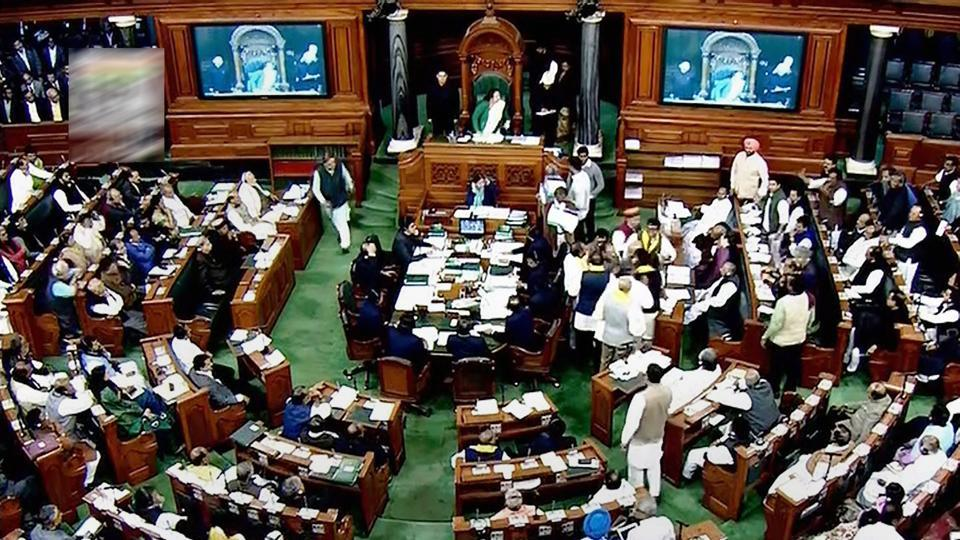 A view of the Lok Sabha during ongoing Budget Session, in New Delhi on Wednesday.