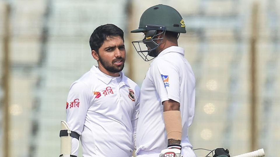 Mominul Haque scored centuries in both innings as Bangladesh escaped with a draw against Sri Lanka in Chittagong.