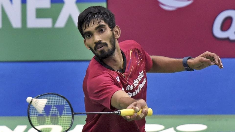 India's Kidambi Srikanth took just 19 minutes to win his men's singles match at the Badminton Asia Team Championships in Malaysia on Wednesday.