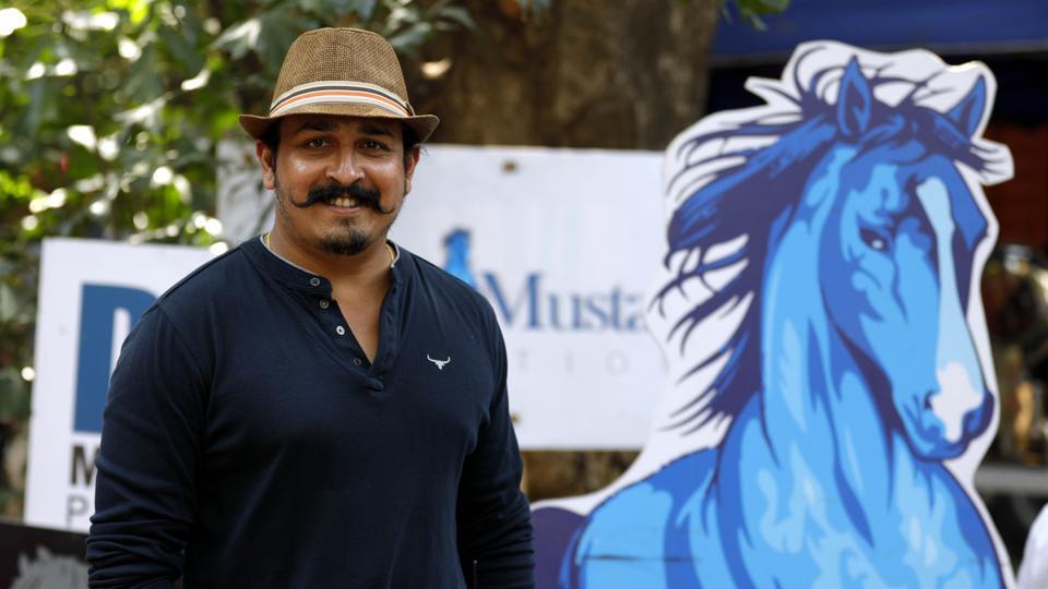 Director Tejas Deoskar is directing Madhuri Dixit-Nene in her debut Marathi film. (Rahul Raut/HT PHOTO)
