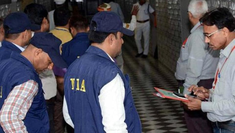 NIA Team inspecting at Assembly in Lucknow, India.