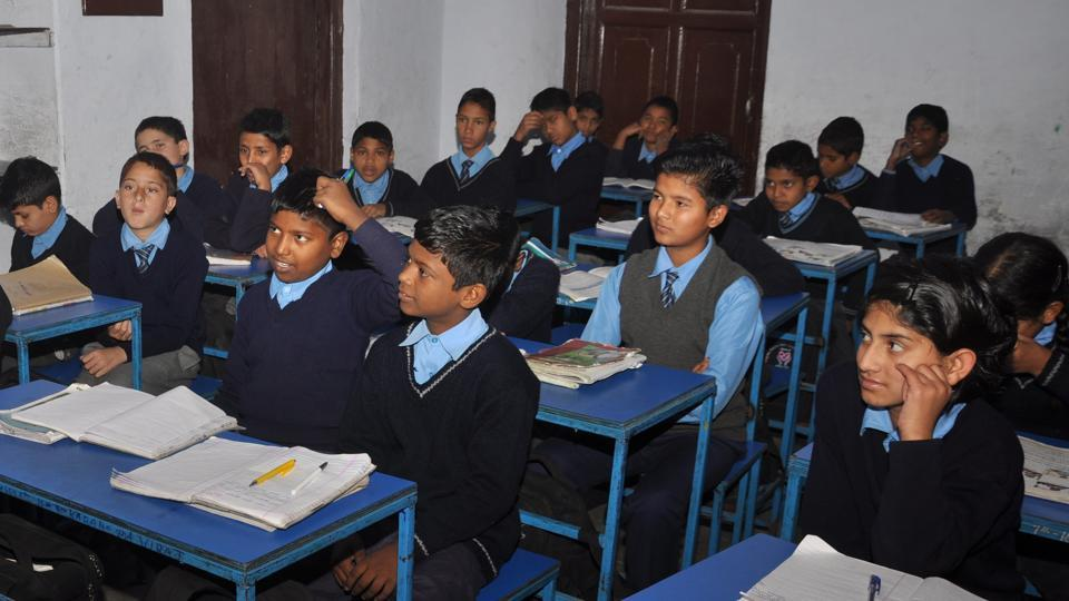 While private schools completed the process of linking students with Aadhaar in August, the government schools are still struggling to finish it.