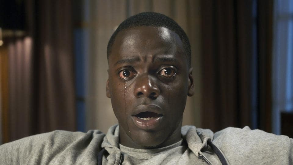 This image released by Universal Pictures shows Daniel Kaluuya in a scene from, Get Out.