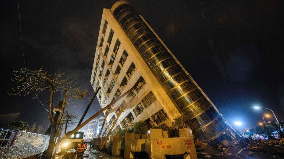 A 6.4-magnitude earthquake hits Taiwan; Hotel, buildings collapse