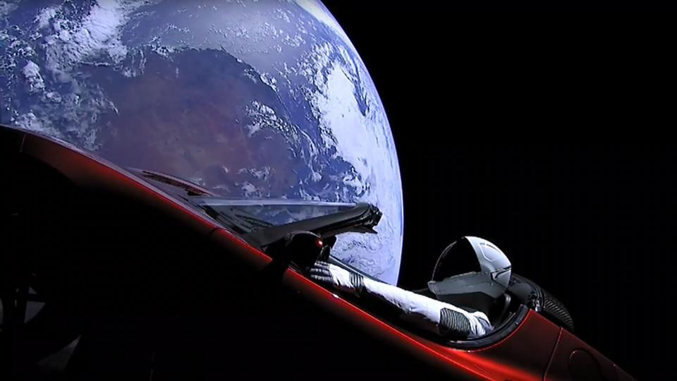 An image from the SpaceX livestream shows