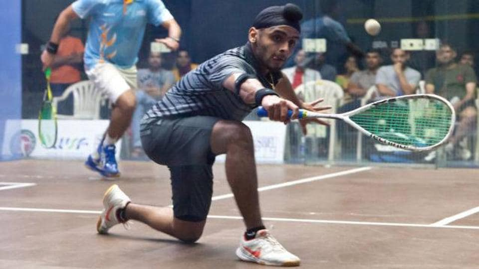Harinder Pal Sandhu defeated Nathan Lake in the ndian Squash Open on Thursday.
