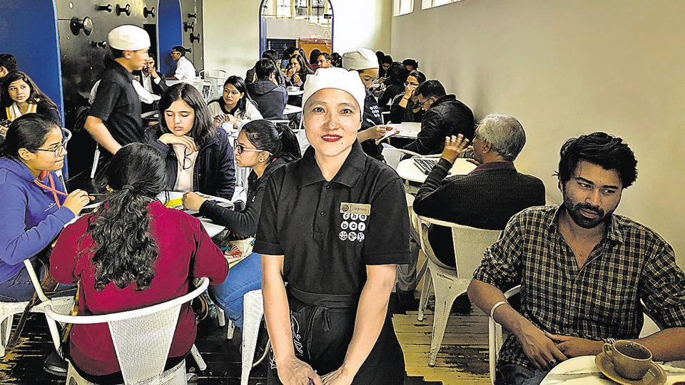 Doibila at a popular café in central Delhi.