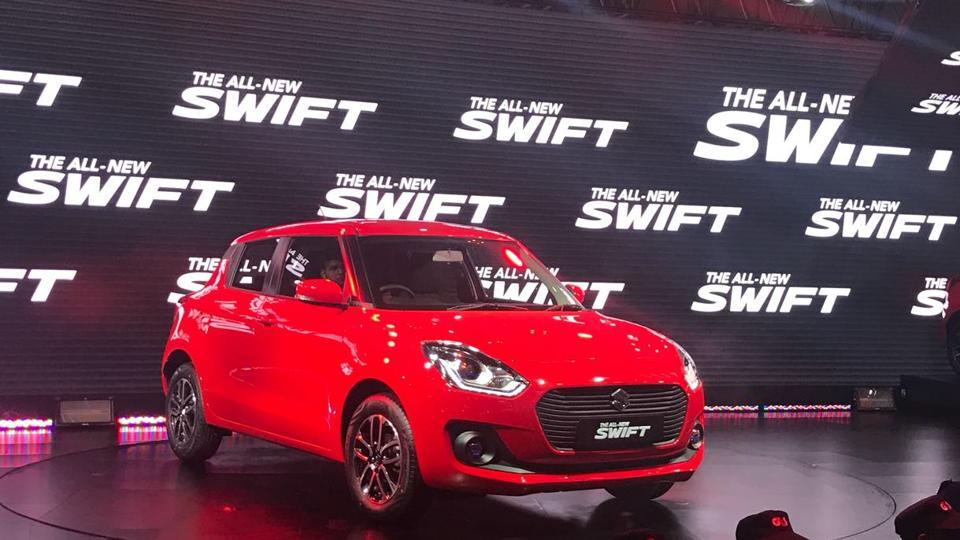 Maruti Suzuki India, India's top-selling car maker, launched the new Swift at Auto Expo 2018 in Greater Noida. (Nisheeth Upadhyay/ HT Photo)