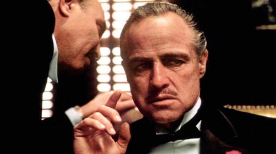 Marlon Brando in a still from The Godfather.
