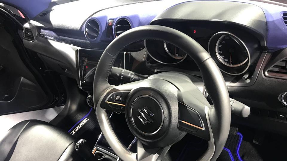 Want to get into the driver's seat of the new Maruti Swift? The prices for the car prices start at Rs 4.99 lakh. (Nisheeth Upadhyay/ HT Photo)
