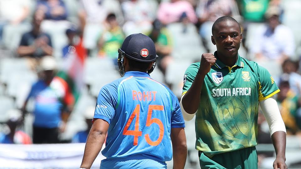 The hosts got off to a good start as Kagiso Rabada removed Rohit Sharma in the first over of the match.  (BCCI )