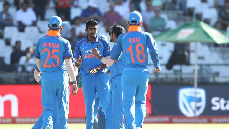 In reply, the hosts got off to a poor start as Jasprit Bumrah removed Hashim Amla in the second over.  (BCCI )