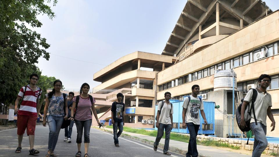 The IIT Delhi campus in New Delhi. IITs and National Institutes of Technology have a provision in their statutes to reappoint the retired faculty members.