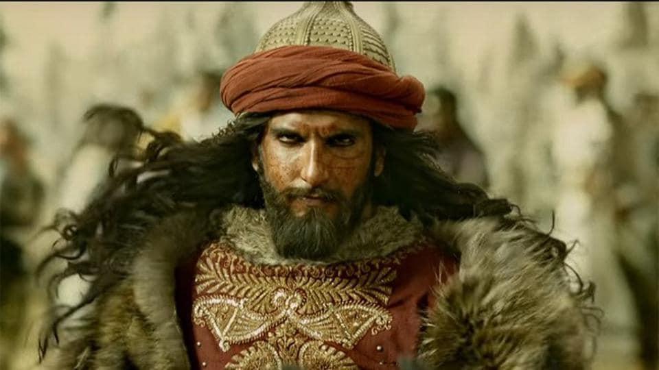 Ranveer Singh as Alauddin Khilji in Sanjay Leela Bhansali's Padmaavat.
