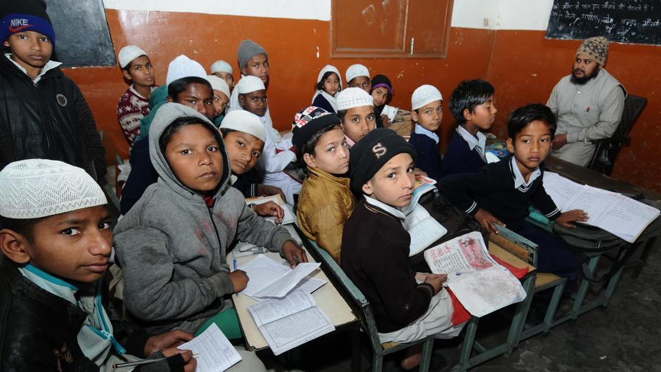 More than 950 students study in the three madrasas, including Madrasa Eizahal-Uloom Mujahidi, Manimajra, Madrasa Shirajul-uloom, Govindpura, and Arobia Faizal Islam. (Ravi Kumar/HT)