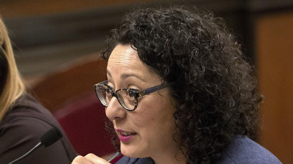 In this file photo, Assemblywoman Cristina Garcia, D- Bell Gardens, speaks at the Capitol in Sacramento, California.