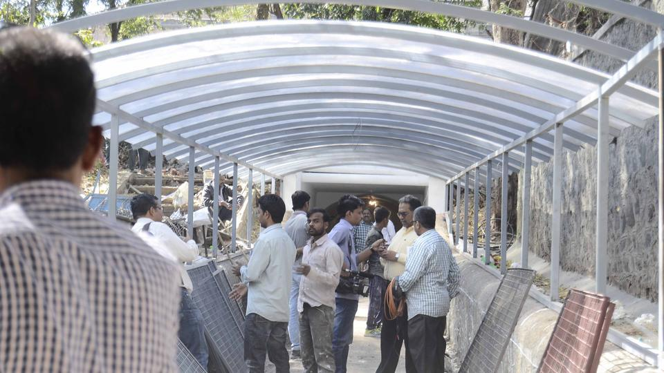 The tunnel which connects the Potdar Sankul, housing the Board of Students Welfare, National Service Scheme (NSS) and the Interdisciplinary School of Scientific Computing, is being opened to the public after several years.