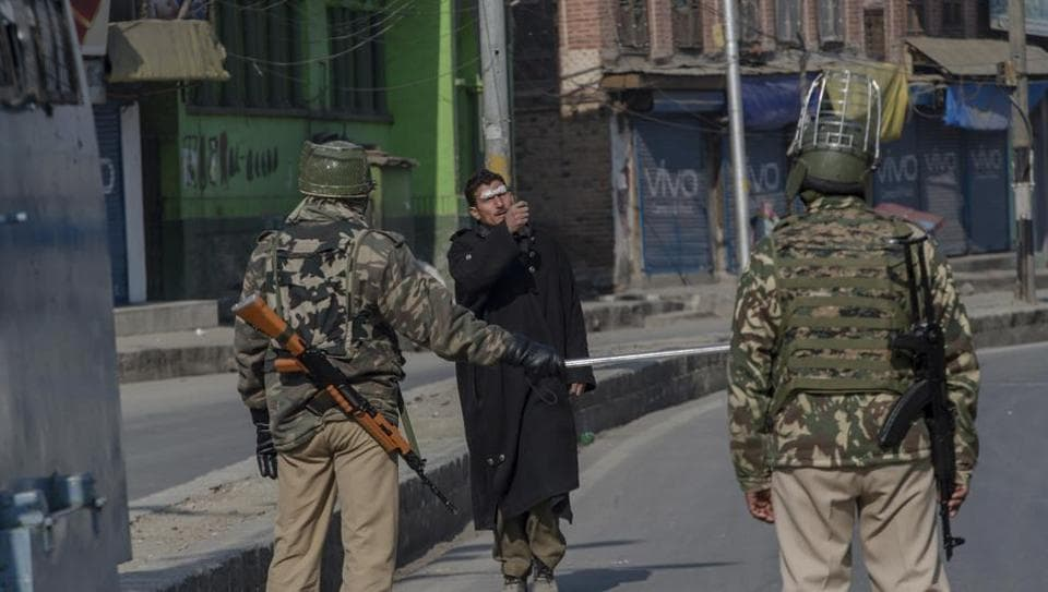 Restrictions were imposed in Srinagar and other parts of the Kashmir Valley today, to prevent separatist-called protests on the death anniversary of Parliament attack convict, Afzal Guru. A police official said that restrictions have been imposed on the orders of district magistrates under section 144 in downtown (Old City) Srinagar and north Kashmir's Sopore town. (Dar Yasin / AP)