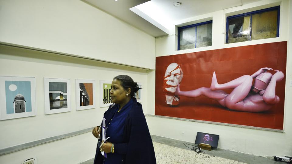 Work from artists, performers, animators, designers and architects among others can be viewed and interacted with across the floors, ceiling and wall space at Studio Khirki, New Delhi. (Anushree Fadnavis  / HT Photo)