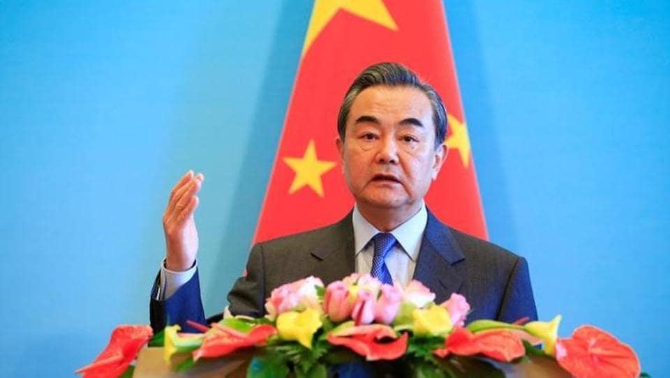 File photo of China's foreign minister Wang Yi speaking at a news conference after the first China-Afghanistan-Pakistan Foreign Ministers' Dialogue in Beijing on December 26, 2017.