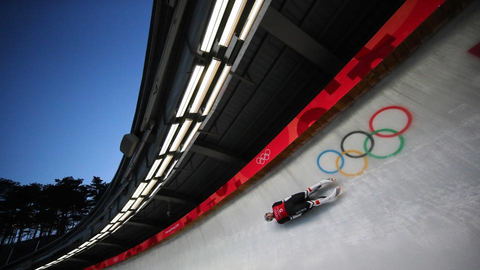 Reinhard Egger of Austria trains for the Men's Luge Singles at the Olympic Sliding Centre ahead of Pyeongchang 2018 Winter Olympics in Pyeongchang, South Korea on February 8, 2018. (Carlos Barria / REUTERS)