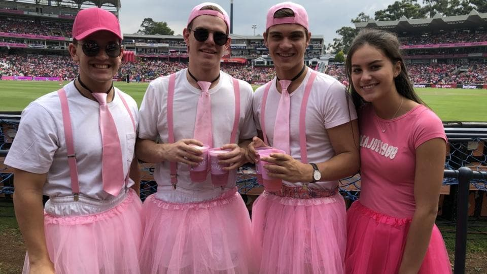 A similar initiative is taken by Australian cricket, with the 'Pink Test' that is played in Sydney every year.  (Twitter: @OfficialCSA)