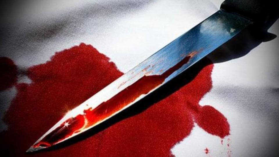The victim was found lying in a pool of blood under the staircase of a row-house in Kharghar.