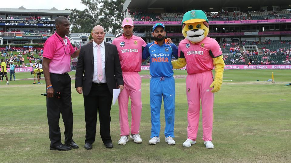 The fourth ODI between India and South Africa is the sixth occasion on which a 'Pink ODI' has been played.   (BCCI / SPORTZPICS)