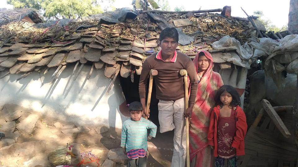 Sahariyas of Rajasthan's  Baran district living in temporary houses.