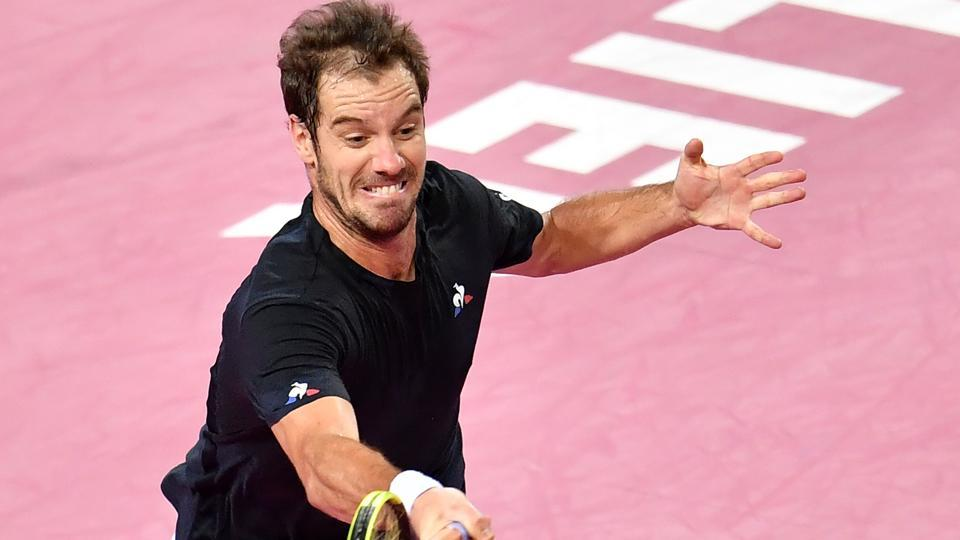 French tennis player Richard Gasquet entered the men's singles final in Montpellier on Saturday.