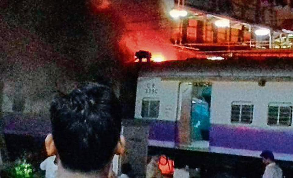 One of the coaches of a Thane-bound local caught fire at Dadar Railway station on February 3. The SOS button will speed up evacuation in such emergencies.