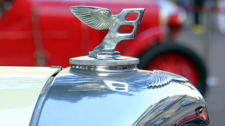 A 1947 Bentley was part of the event. (Pramod Thakur/HT Photo)