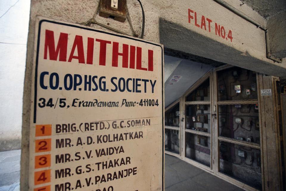 The society where the Kolhatkars live in Erandwane in Pune on Saturday.