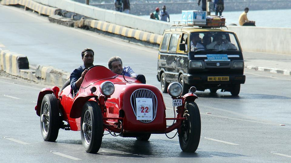The sixth edition of the rally saw 220 participants. Nitin Dossa, president of VCCCI, said the number of participants had increased this year. On Sunday, there were five new vintage car participating in the event. (Pramod Thakur/HT Photo)