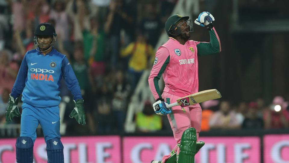 South Africa defeated India by five wickets (D/L) in the fourth ODI at the Wanderers Cricket Ground in Johannesburg. This was their first win of the series. (BCCI)