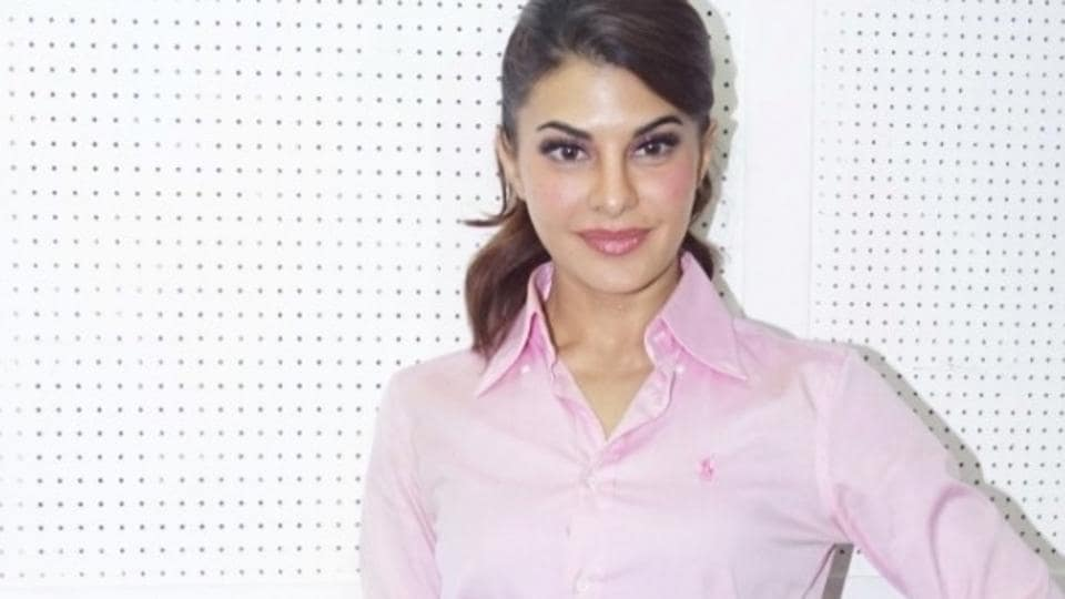 Jacqueline Fernandez during media interaction after the wrap of her song Ek Do Teen in Mumbai.
