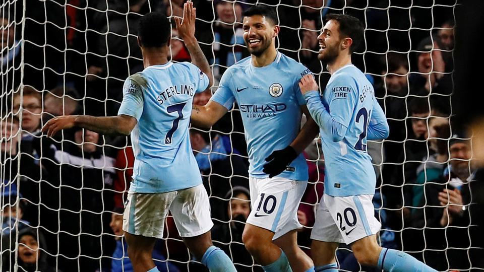 Image result for aguero v leicester